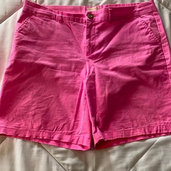 Hot pink Bermuda shorts